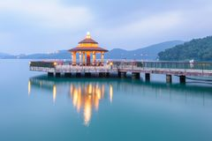 Landscape of Sun Moon Lake in Taiwan Stock Images