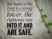 The name of Lord is a strong from bible verse design for Christianity.