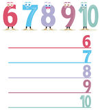 The name of the numbers, part 2 stock images