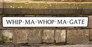 The Name Plate for the Shortest Street in Britain Stock Photos
