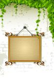 Name Plate on Wall Royalty Free Stock Photography