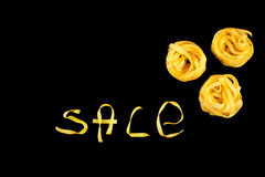 Name of Sale on the black background Stock Photo