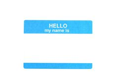 Name Tag Royalty Free Stock Photo