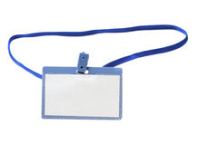 Name tag. It is isolated on a white background Stock Photography