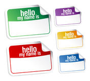 Name tag blank stickers. Stock Photo