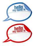 Name tag blank stickers set. Royalty Free Stock Photo