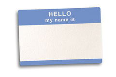 Name Tag with clipping Path Royalty Free Stock Image