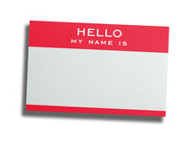 Name tag isolated on white Royalty Free Stock Photo