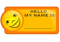 Name tag Royalty Free Stock Photography