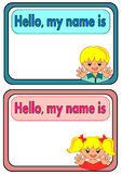 Name Tag for Kids Stock Photos