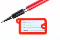 Name tag  and a pen Royalty Free Stock Image