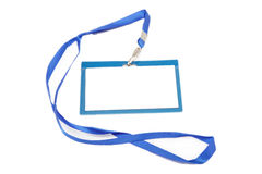 Name Tag with white. Stock Image