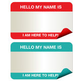 Name tags vector illustration