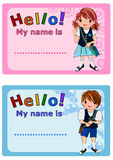 Name Tag for Kids Stock Photo