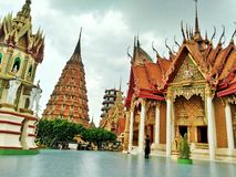 Name temple is & x22;Tiger cave Temple& x22; royalty free stock photography