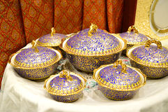 Name of Thai porcelain Royalty Free Stock Photography