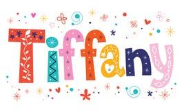 Name Tiffany decorative type Stock Photos