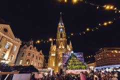 Name von Mary Church und von Freiheits-Quadrat in Novi Sad Stockfotos