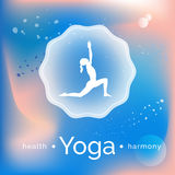 Name of yoga studio on an abstract background. Royalty Free Stock Photography