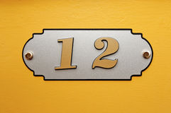 Nameboard sign background Stock Photo