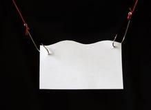Nameboard sur des hameçons Photos libres de droits