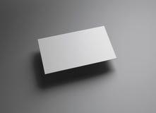 Namecard水平的左浮游物样式 库存照片