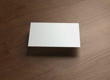 Namecard horizontal Front float style wood Stock Photos