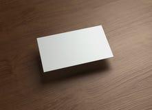 Namecard horizontal Left float style wood Stock Image