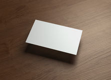 Namecard horizontal Right float style wood Royalty Free Stock Image