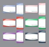 Namecard szablonów kolorowy set ilustracji