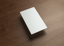 Namecard vertical Left float style wood Royalty Free Stock Image