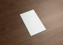 Namecard vertical wood Stock Images