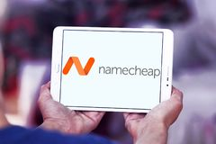 Namecheap som är värd företagslogo Arkivfoton