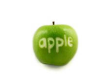 Named Apple Royalty Free Stock Photo