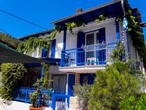 Beautiful house in Panagia village. stock photo