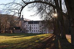 Namedy Castle σε Andernach Γερμανία στοκ φωτογραφία με δικαίωμα ελεύθερης χρήσης