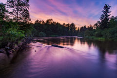 Namekagon-Fluss-Sonnenuntergang Lizenzfreie Stockbilder