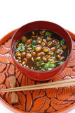Nameko mushrooms miso soup Stock Photography
