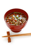 Nameko mushrooms miso soup Stock Photo