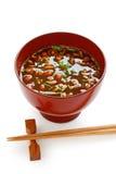Nameko mushrooms miso soup Stock Photo