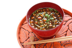 Nameko mushrooms miso soup Royalty Free Stock Photos