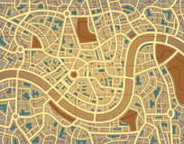 Nameless city map Stock Images