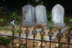 Nameless tombstones Stock Images