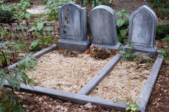 Nameless tombstones Royalty Free Stock Image