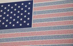 Namen vom verlorenen--Markierungsfahne bei 9/11 Denkmal Lizenzfreie Stockbilder