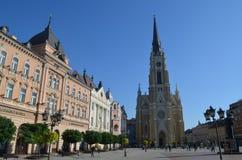 The-Namen von Mary Church Novi traurig, Serbien stockfotos