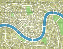 Namenlose Stadtkarte Lizenzfreie Stockbilder