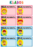 Namensschild für Kinder Lizenzfreie Stockbilder