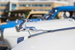 Nameplate samochodu GAZ 21 retro avtoarena w Cheboksary Zdjęcie Royalty Free
