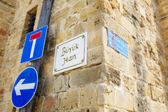Nameplate Sign Of Buyuk Han (The Great Inn) Stock Photography